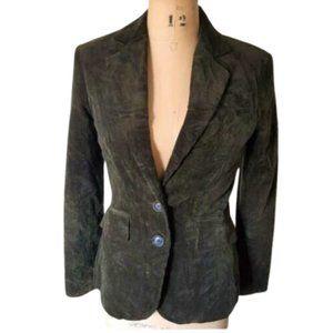 Vintage dark olive green corduroy blaze jacket